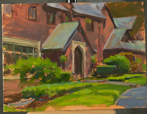 Worcester Home, oil on panel
