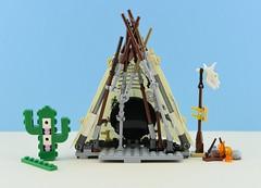 Behind the bricks #1 : Far West🌵 (Alex THELEGOFAN) Tags: lego legography wild west tribal tribe teepee fire