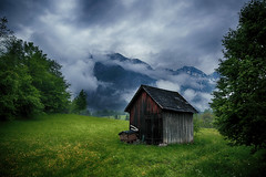An Old Shed (lfeng1014) Tags: anoldshed austrianalps alps austria shed mountain misty cloud landscape canon5dmarkiii ef2470mmf28liiusm travel lifeng