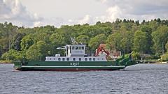 The ferry / work boat Krut in Stockholm (Franz Airiman) Tags: båt boat ship fartyg stockholm sweden scandinavia lidingöbro bay fjärd lillavärtan