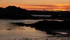 Sunset from Fidden 2 (chris-parker) Tags: mull iona scotland beach rocks sand yacht sunset sea pinks seaweed sailing ship traigh ban boat rockpool puppy cal mac caledonian macbrayne