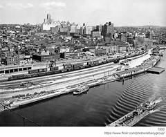 1950 albany (albany group archive) Tags: albany ny history aerial hudson river riverfront panorama downtown skyline