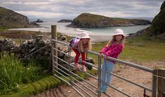 Nr Scoor, Isle of Mull (chris-parker) Tags: mull iona scotland beach rocks sand yacht sunset sea pinks seaweed sailing ship traigh ban boat rockpool puppy cal mac caledonian macbrayne
