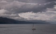 Sound of Mull 1 (chris-parker) Tags: mull iona scotland beach rocks sand yacht sunset sea pinks seaweed sailing ship traigh ban boat rockpool puppy cal mac caledonian macbrayne