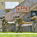 U.S. Marines ssigned to Force Reconnaissance Company, III Marine Expeditionary Force, conduct a limited scale raid at the Explosive Ordnance Disposal Mobile Unit (EODMU) 5's training compound during Exercise Hydracrab.