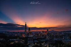 虎山觀景台 (威爾 劉) Tags: 虎山 台北 霞光 城市 taipei city explore