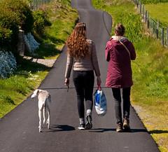 Iona road (chris-parker) Tags: mull iona scotland beach rocks sand yacht sunset sea pinks seaweed sailing ship traigh ban boat rockpool puppy cal mac caledonian macbrayne