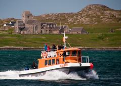 Iona scene 1 (chris-parker) Tags: mull iona scotland beach rocks sand yacht sunset sea pinks seaweed sailing ship traigh ban boat rockpool puppy cal mac caledonian macbrayne