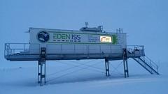 Das Antarktisgewächshaus im Betrieb