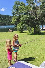 Beauvais Lake (Oldman Watershed) Tags: rebekkah sydney dutch creek point duty backcountry headwaters beauvaislakeprovincialpark native fish fun game summer 2019 outreach assistants lake grass fishing rod kids