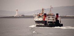 Cal Mac at Lismore Lighthouse (chris-parker) Tags: mull iona scotland beach rocks sand yacht sunset sea pinks seaweed sailing ship traigh ban boat rockpool puppy cal mac caledonian macbrayne