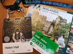 Worldcon 2019 Dublin (Helen in Wales) Tags: sf travel ireland dublin badge convention sciencefiction worldcon malahide 2019 leapcard