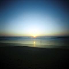 lone figure at sunset (Daphnesalbums) Tags: zeroimage2000pinholecamera cinestill