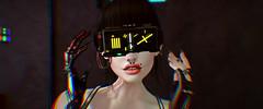 Vision (Diavkha) Tags: cyberpunk scifi dark portrait android cyborg femboy boy androgynous male secondlife second life avatar photography