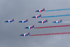 Patrouille de France at RIAT 2019 (Mark_Aviation) Tags: patrouille de france riat 2019 patrol french air force alpha jet trainer display team aerobatic formation flying smoke red blue white armee lair royal international tattoo riat19 raf fairford