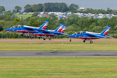 Patrouille de France at RIAT 2019 (Mark_Aviation) Tags: patrouille de france riat 2019 patrol french air force alpha jet trainer display team aerobatic formation flying smoke red blue white armee lair royal international tattoo riat19 raf fairford concorde concord flypast takeoff