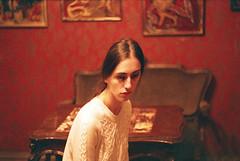redroom (Tamar Burduli) Tags: tamarburduli analog film 35mm people girl portrait female woman red redroom brfinkel surreal horror dark femaleportrait