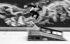 Kick It (CoolMcFlash) Tags: panning bnw bw blackandwhite person man sport skateboard skater fujifilm xt2 trick jump blackwhite wien wienmuseum takeover motion sw schwarzweis mann sprung vienna bewegung bewegungsunschärfe blur fotografie photography xf1024mmf4 r ois ramp action lifestyle