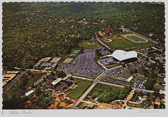 """""""Athletic Paradise"""" Aerial view of the Coliseum on the University of Georgia campus.   postcard2016.018.040-0001 (heritageroomref) Tags: university georgia athens aerial view postcards architecture uga coliseum"""