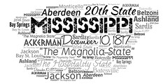 Mississippi (Ben Taylor55) Tags: mississippi themagnoliastate thehospitalitystate december10 1817 20th state jackson aberdeen ackerman ashland batesville bay st louis springs belzoni monticello sardis tag tags tagcloud word words wordcloud