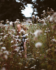 wild flowers (mark letheren) Tags: nature beauty girl flower wildflowers portrait