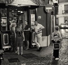 Jerez201908150306FR (Allan Rostron) Tags: monochrome jerezdelafrontera spain street cafes bars