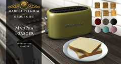 MadPea's Premium Gift: MadPea Toaster! (MadPea Productions) Tags: madpea productions madpeas premium group gift premiums gifts fun exciting toast toaster kitchen decor decoration fully interactive decorations appliance food snack