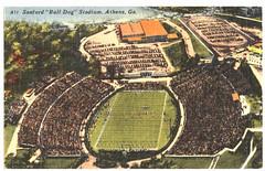 postcard2016.018.033-0001 (heritageroomref) Tags: sanford stadium bulldogs uga university georgia stadiums aerial architecture athens postcards