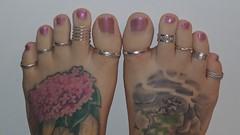 Toes_Glitter_Purple (centralfloridafeet) Tags: toes toerings foot feet tattooedfeet foottattoo paintedtoes