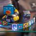 Gamescom Merchandise: Quietscheente und Schlüsselband mit bekannten Symbolen von SuperMario und Zelda