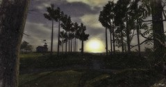 Harmony (Loegan Magic) Tags: secondlife landscape sun sunset sky trees grass lighthouse
