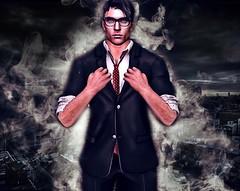 Clarke (SilentRaindrop) Tags: ad logo male superhero clarkekent digitalart secondlife sl virtualworld man hero avatar
