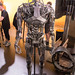 Endoskeleton with red eyes: Robotic statue for the new Terminator Dark Fate movie