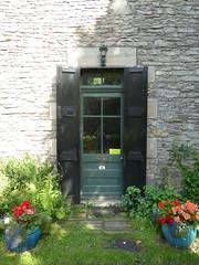 UK - Scotland - Near Lanark - New Lanark - Cottage by falls of Clyde - Door (JulesFoto) Tags: uk scotland lanark newlanark cottage door
