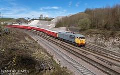 56081   Peak Forest   20th March '19 (Frank Richards Photography) Tags: 56081 derbyshire peak forest class56 grey cemex locomotive march 20th 2019 nikon d7100 buxton dale grid brush stone quarry shunter spring