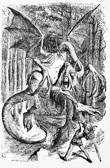 The Jabberwocky - Alices Adventures in Wonderland 8643 (Brechtbug) Tags: from english by illustration century pen john found graphic alice name political humor lewis surreal charles story fantasy half there tenniel lookingglass second what british illustrator through adventures written sir wonderland scenes alices 19th humorist cartoonist 1865 jabberwocky the 1871 carrolls prominent dodgson lutwidge