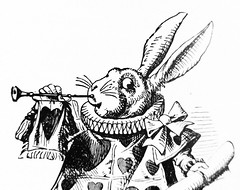 The White Rabbit - Alices Adventures in Wonderland 8667 (Brechtbug) Tags: the white rabbit from pen name lewis carrolls alices adventures wonderland 1865 through lookingglass what alice found there 1871 illustration by sir john tenniel english illustrator graphic humorist political cartoonist prominent second half 19th century british humor story surreal scenes written charles lutwidge dodgson fantasy