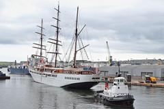 Sea Cloud II Aberdeen 01-08-2019 (1) (Iain Maciver SY) Tags: aberdeen tug harbour port ship boat tallship scotland tow