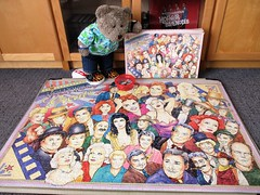 Never hurd of 'alf of 'em! (pefkosmad) Tags: jigsaw puzzle hobby leisure pastime incomplete missingpiece 1500pieces webbivory hollywoodgreats filmstars collage tedricstudmuffin teddy ted bear animal toy cute cuddly fluffy plush soft stuffed