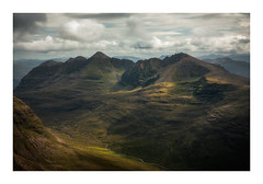 Imposing Beauty (Augmented Reality Images (Getty Contributor)) Tags: hdr nisifilters beinnalligin bluesky canon cliffs climbing highlands hiking hillwalking landscape liathach mountain munro northface ridge rocks scotland summer torridon vanguard