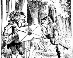 The Doorman And Footman - Alices Adventures in Wonderland 8598 (Brechtbug) Tags: the frog doorman and fish footman from pen name lewis carrolls alices adventures wonderland 1865 through lookingglass what alice found there 1871 illustration by sir john tenniel english illustrator graphic humorist political cartoonist prominent second half 19th century british humor story surreal scenes written charles lutwidge dodgson fantasy