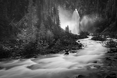 Laughing in Black and White (andrewpmorse) Tags: yoho yohonationalpark nationalpark nationalparks bc britishcolumbia rockymountains water waterfall movement blackandwhite longexposure canon canada westerncanada 5dmarkiv 5div canon5dmarkiv 2470f28lii leefilters leelandscapepolarizer leebigstopper