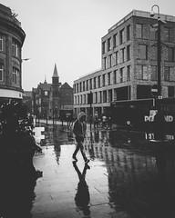 Newport Street (IWCharters) Tags: reflections mono street england rain bolton lancashire