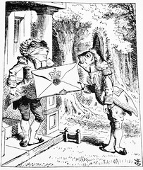 The Doorman And Footman - Alices Adventures in Wonderland 8597 (Brechtbug) Tags: the frog doorman and fish footman from pen name lewis carrolls alices adventures wonderland 1865 through lookingglass what alice found there 1871 illustration by sir john tenniel english illustrator graphic humorist political cartoonist prominent second half 19th century british humor story surreal scenes written charles lutwidge dodgson fantasy