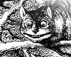 The Cheshire Cat - Alices Adventures in Wonderland 8472 (Brechtbug) Tags: the cheshire cat from pen name lewis carrolls alices adventures wonderland 1865 through lookingglass what alice found there 1871 illustration by sir john tenniel english illustrator graphic humorist political cartoonist prominent second half 19th century british humor story surreal scenes written charles lutwidge dodgson fantasy mad