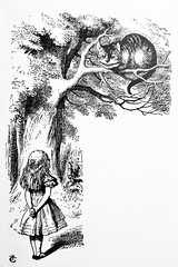 The Cheshire Cat - Alices Adventures in Wonderland 8462 (Brechtbug) Tags: the cheshire cat from pen name lewis carrolls alices adventures wonderland 1865 through lookingglass what alice found there 1871 illustration by sir john tenniel english illustrator graphic humorist political cartoonist prominent second half 19th century british humor story surreal scenes written charles lutwidge dodgson fantasy mad