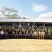 Service members take a group photo during the opening ceremony of Exercise Hari'i Hamutuk 2019