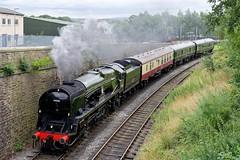 34046: Braunton And Friends (Gerald Nicholl) Tags: 34046 braunton bullied elr eastlancashirerailway lancashire bury heywood express steam engine loco locomotive train sc51485 e56121 westcountry