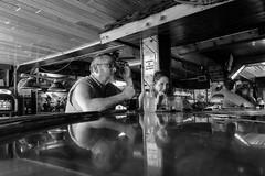 Moccasin Bar (Jordan Barab) Tags: wisconsin hayward streetphotography sonydscrx100markiii blackandwhite bw street bar moccasinbar