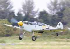 Me-109 (Graham Paul Spicer) Tags: hispanoaviaciónha1109 me109 messerschmittbf109g2 messerschmitt bf109 fighter germany luftwaffe ww2 military warplane preserved vintage classic